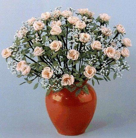 Букет роз из бисера 0