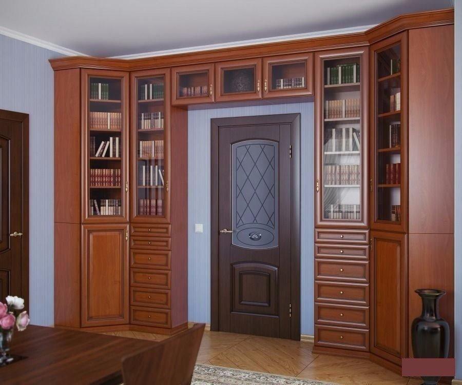 Идеи оборудования шкафа вокруг двери 2