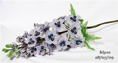 Красивый цветок из бисера: гиацинт 4