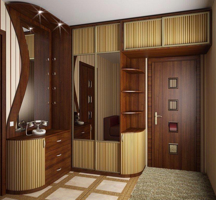 Идеи оборудования шкафа вокруг двери 0