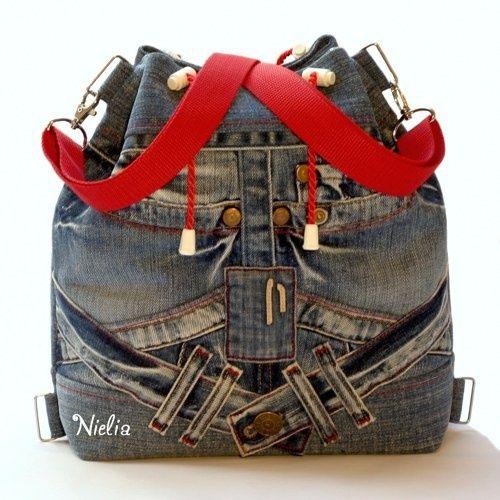 Сумки и рюкзаки из джинсов: идеи 2