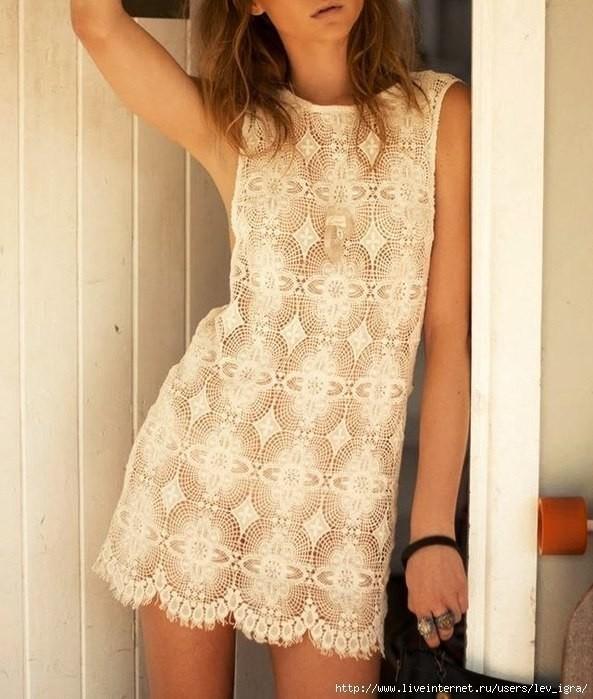 �зысканное платье: очень красивый необычный мотив 0