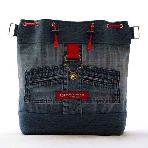 Сумки и рюкзаки из джинсов: идеи 9