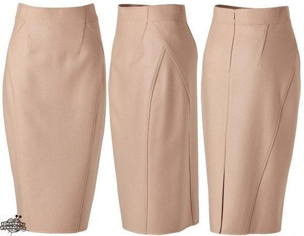 Моделирование юбки - карандаш от Donna Karan 0