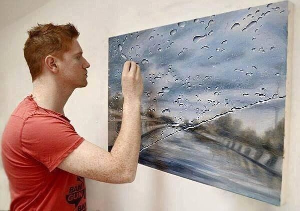 Художник, который рисует дождь: неординарная живопись Грегори Тилкера 0