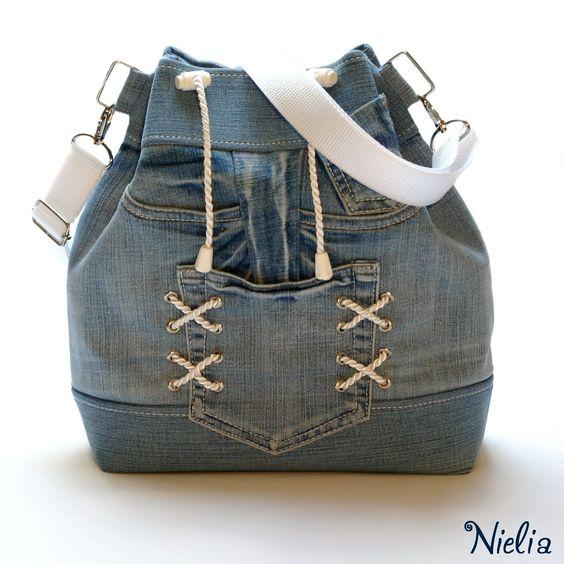 Сумки и рюкзаки из джинсов: идеи 1