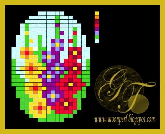 Схемы для вышивки брошей с цветами 9