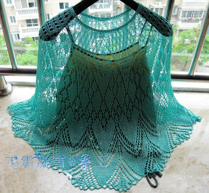 Ажурный романтичный узор для юбки или пончо 3