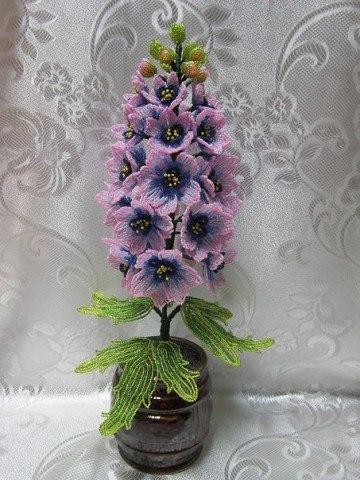 Красивый цветок из бисера: гиацинт 0