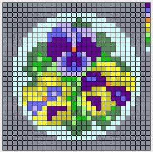 Схемы для вышивки брошей с цветами 5