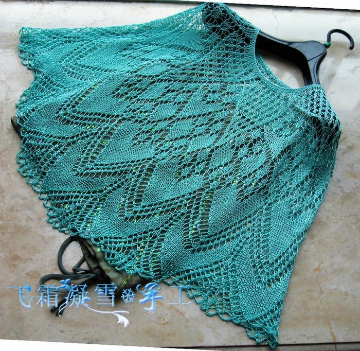 Ажурный романтичный узор для юбки или пончо 2