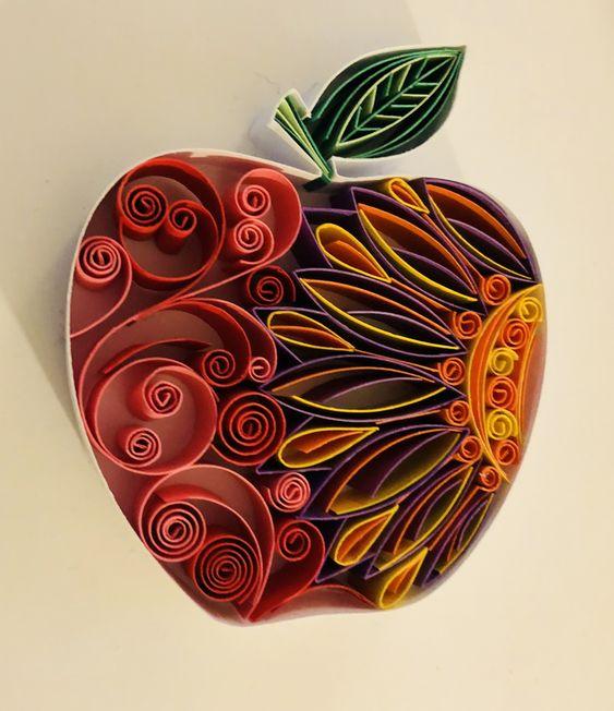 Яблочный квиллинг 3