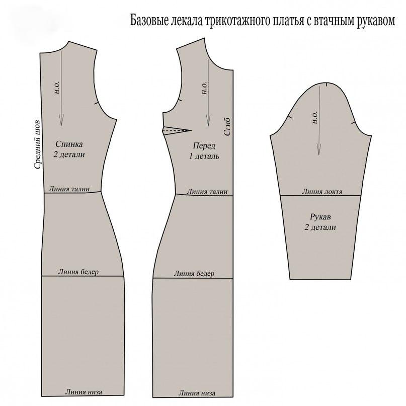 Платье-водолазка по выкройке 2