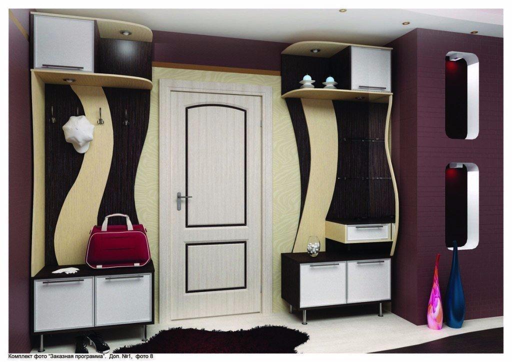 Идеи оборудования шкафа вокруг двери 5