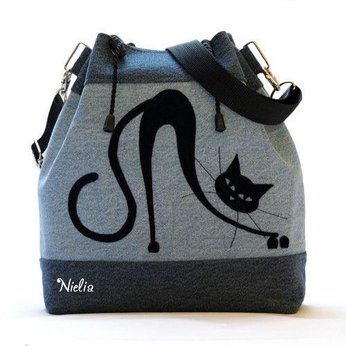 Сумки и рюкзаки из джинсов: идеи 4