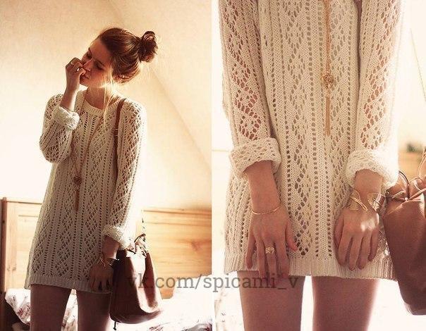 Узор для красивого пуловера свободного покроя 0