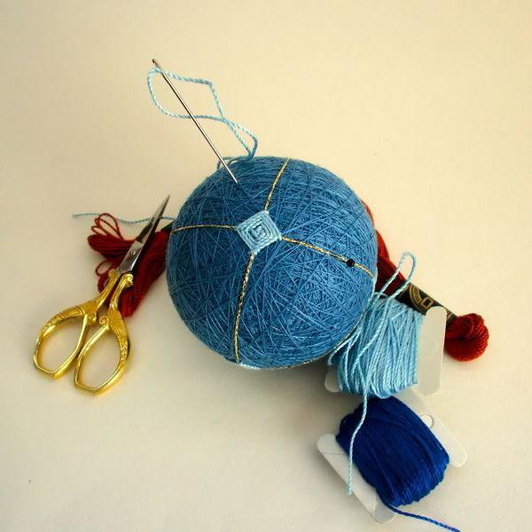 Вышивка японского шара темари: мастер-класс 1