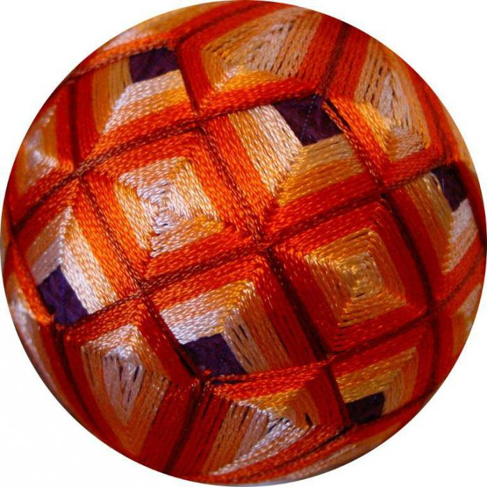 Вышивка японского шара темари: мастер-класс 4