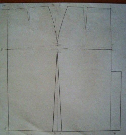 Моделирование юбки - карандаш от Donna Karan 1