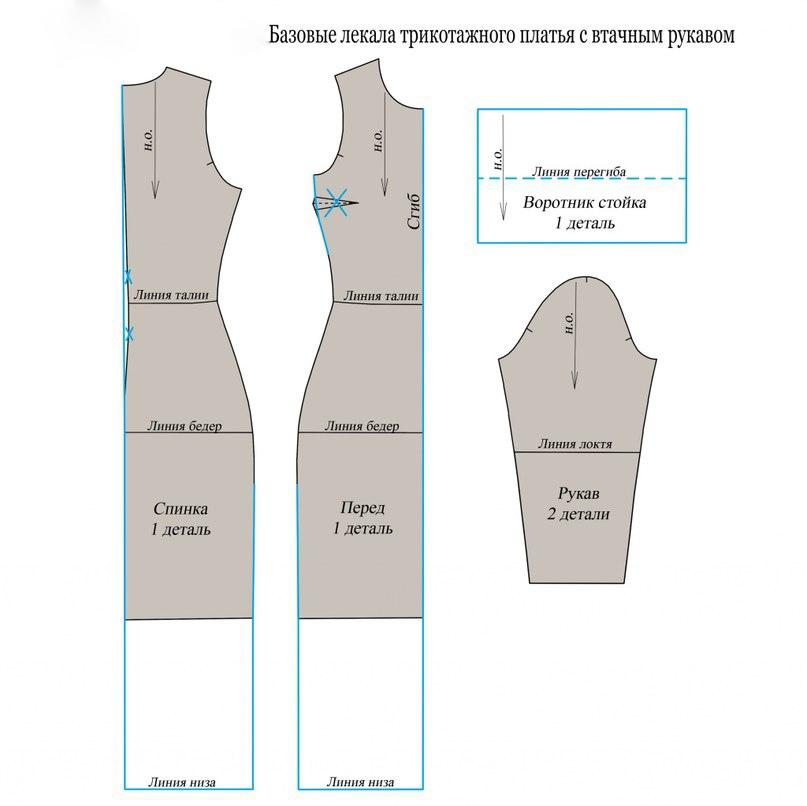 Платье-водолазка по выкройке 3
