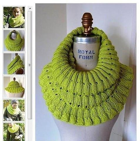 Очень красивый шарф-хомут 0