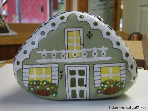 Идеи для росписи по гальке: забавные куколки, их домики и не только 2