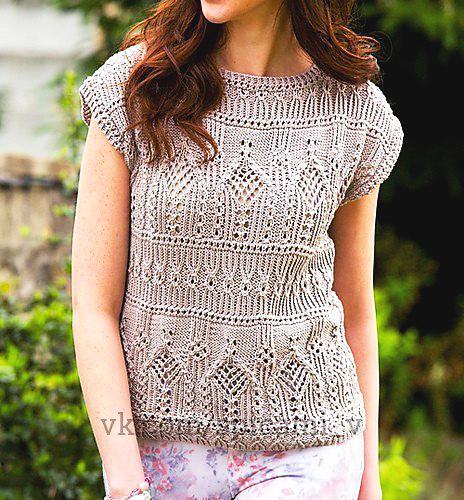 Один узор для потрясающей красоты пуловера или платья 0