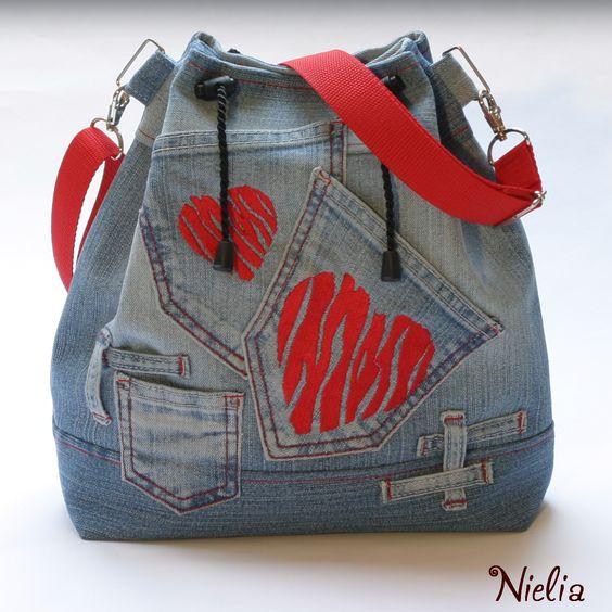 Сумки и рюкзаки из джинсов: идеи 3