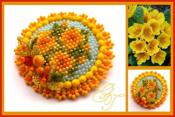 Схемы для вышивки брошей с цветами 2