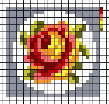 Схемы для вышивки брошей с цветами 1