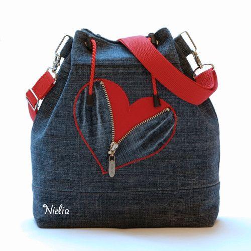 Сумки и рюкзаки из джинсов: идеи 5