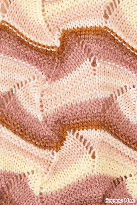 Узоры Миссони: вязание на спицах 2