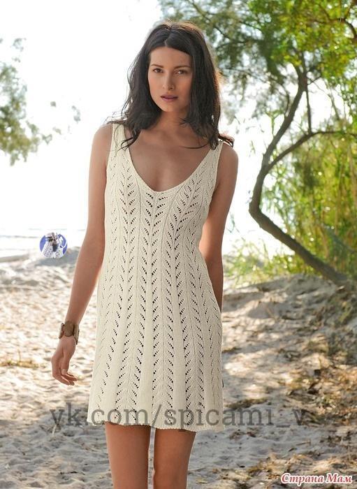 Застенчивая нежность красоты: летнее вязаное платье 0