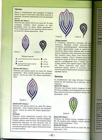 Красивый цветок из бисера: гиацинт 2