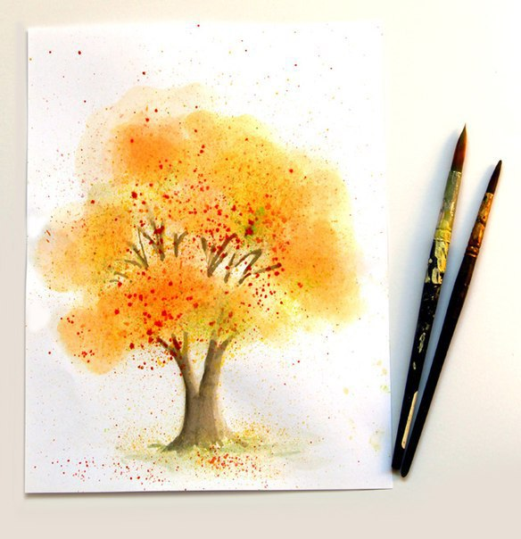 Рисуем красивое дерево просто: мастер-класс 0