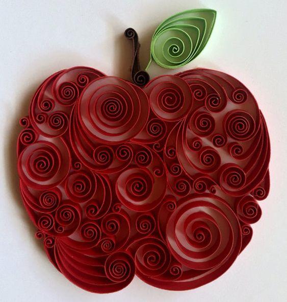 Яблочный квиллинг 4