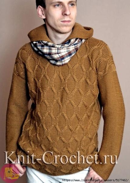 Мужской пуловер с капюшоном 0