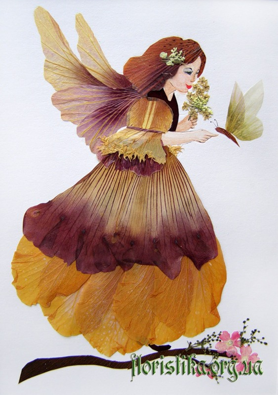 Ошибана:  живопись цветами 5