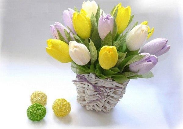 Букет из бумаги тюльпаны своими руками