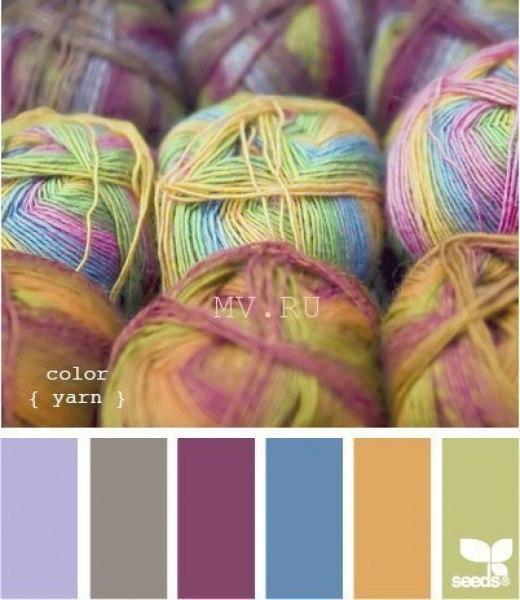 С каким цветом сочетается бежевый цвет при вязании 8