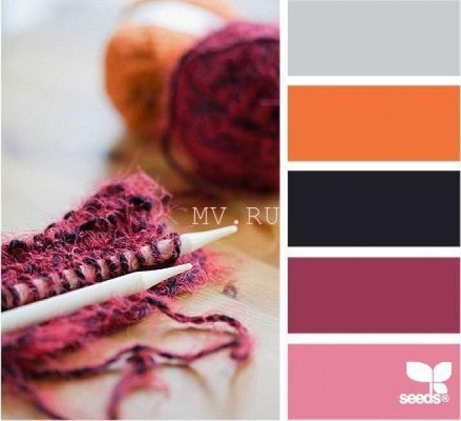 С каким цветом сочетается бежевый цвет при вязании 90