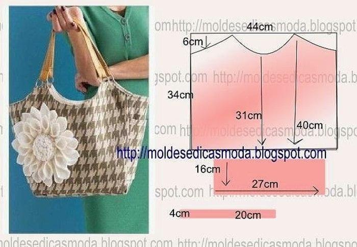 Выкройка сумки из ткани для начинающих