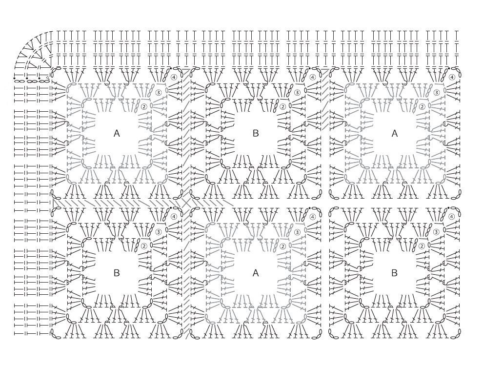 Вязание ковров из шнура спицами схемы 3