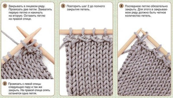 Вязания спицами как закончить шапку спицами