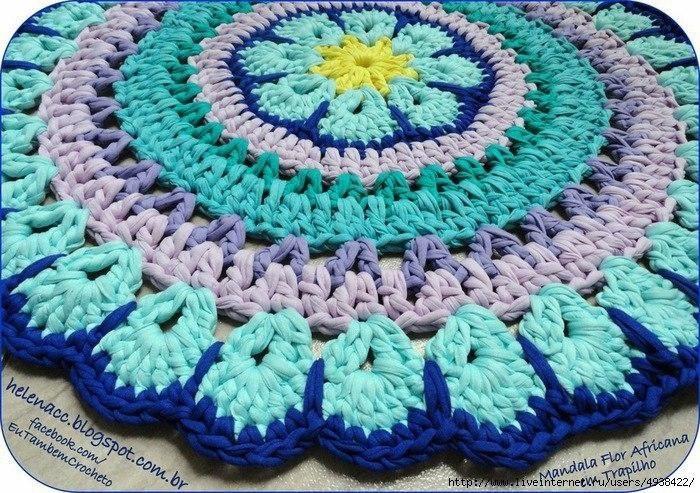 Смотреть вязания коврика крючком