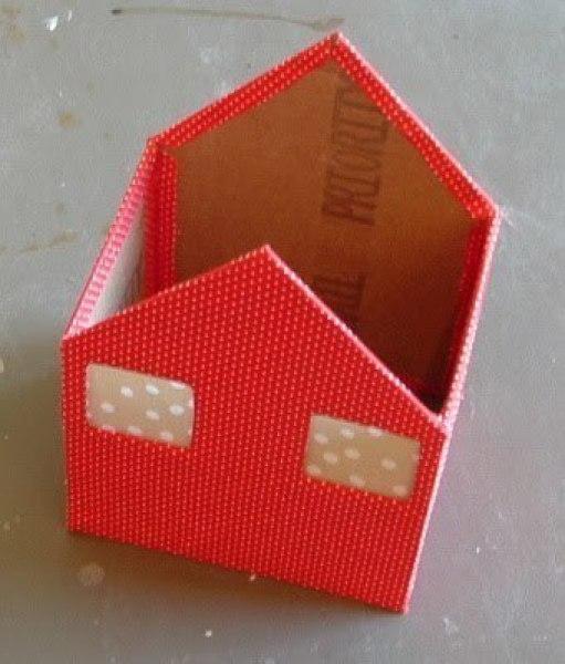 Как сделать маленький домик из картона