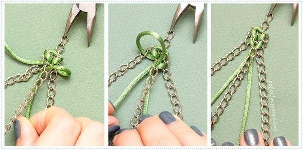 Как сделать браслет из одной цепочки