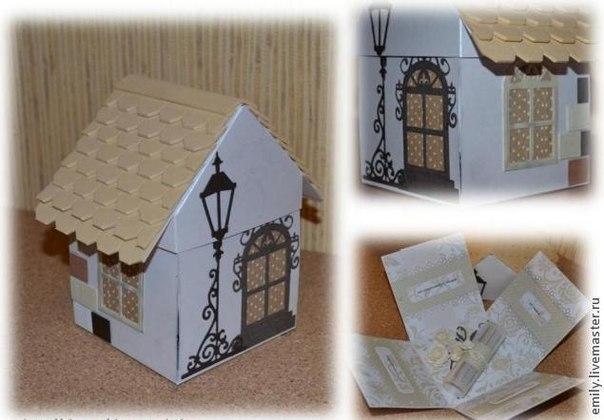 Как сделать красивый дом из коробки