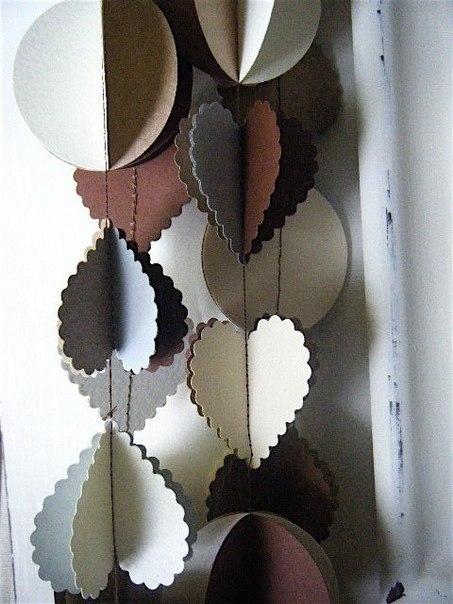 Как сделать длинную гирлянду из бумаги