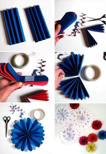 Как сделать украшение из бумаги веер своими руками из 171